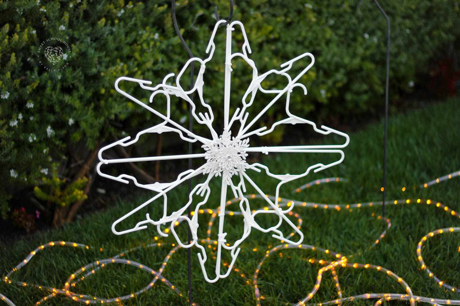 A snowflake made of hangers