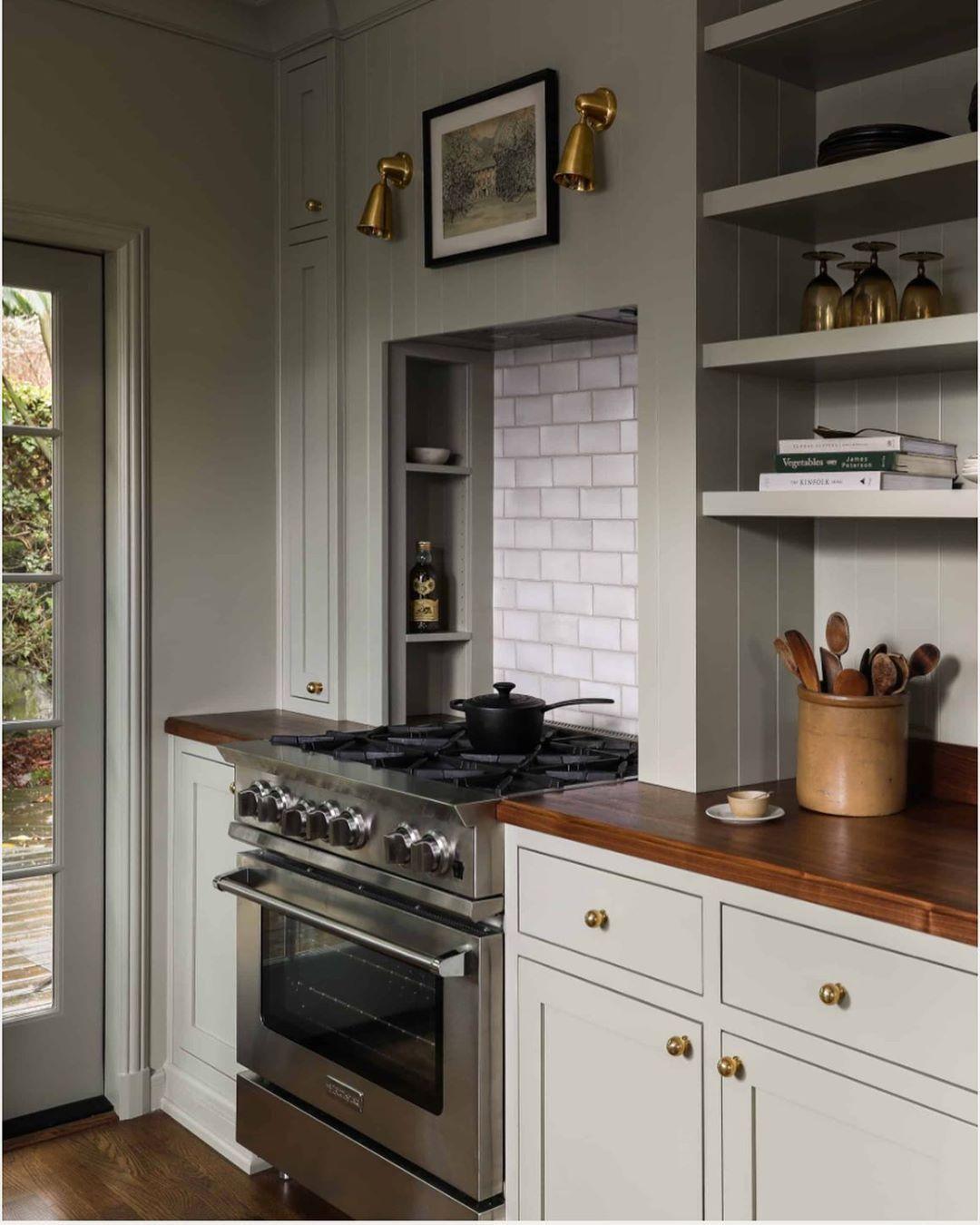 Vintage and modern kitchen
