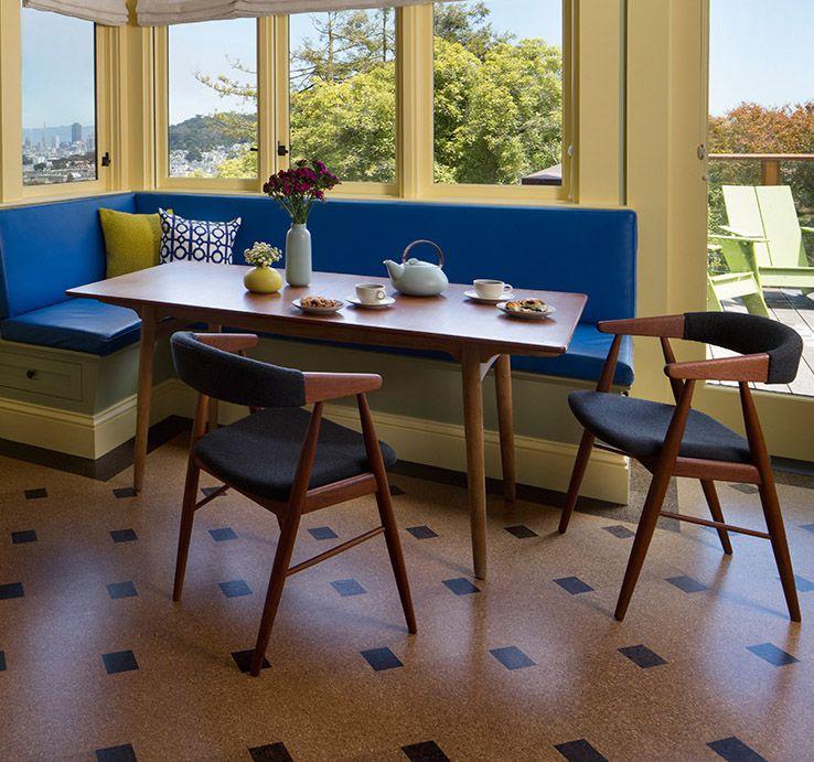 juego de mesa y silla vintage de mediados de siglo