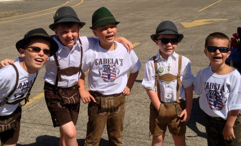 kids at an Oktoberfest party