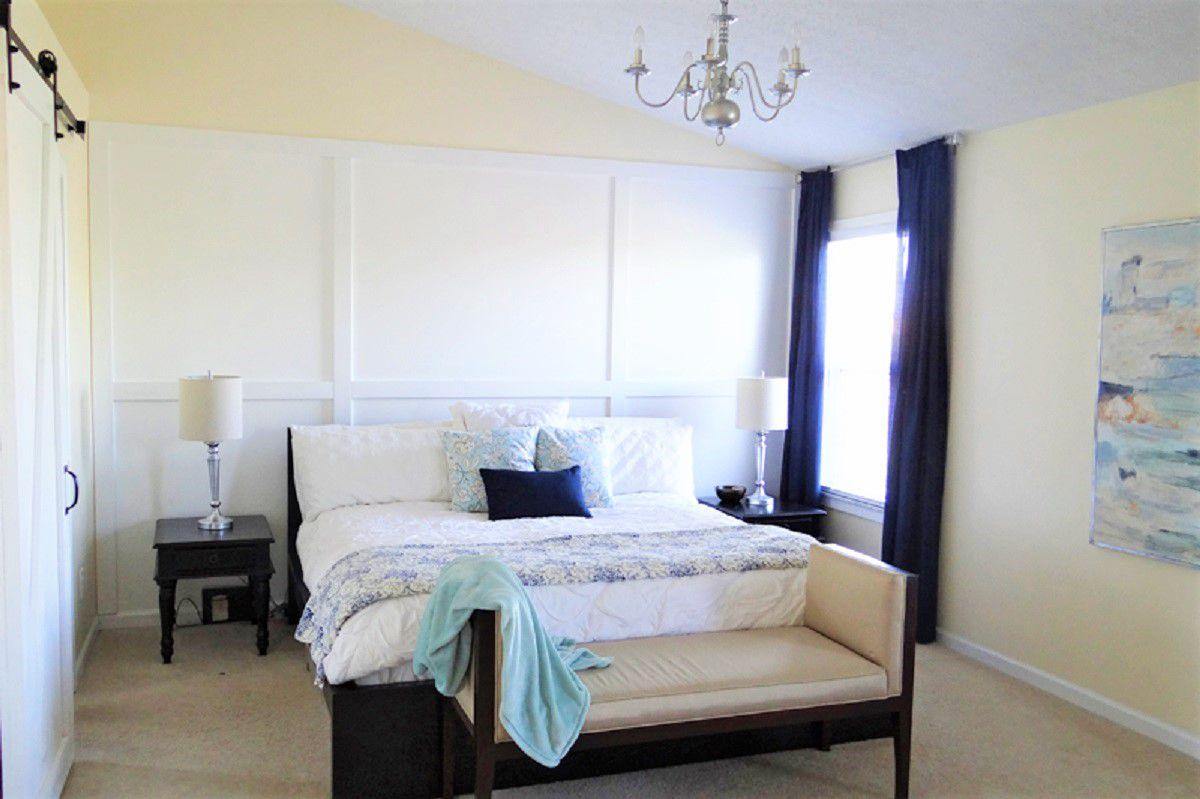 Dormitorio relajante después de un cambio de imagen