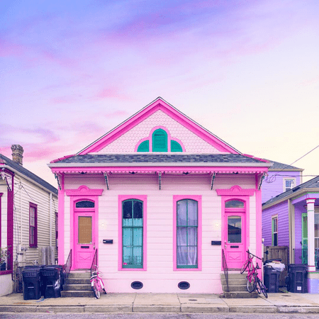 House Tour: A Pink Bywater Shotgun Home in New Orleans on