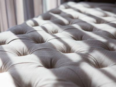 closeup of a mattress