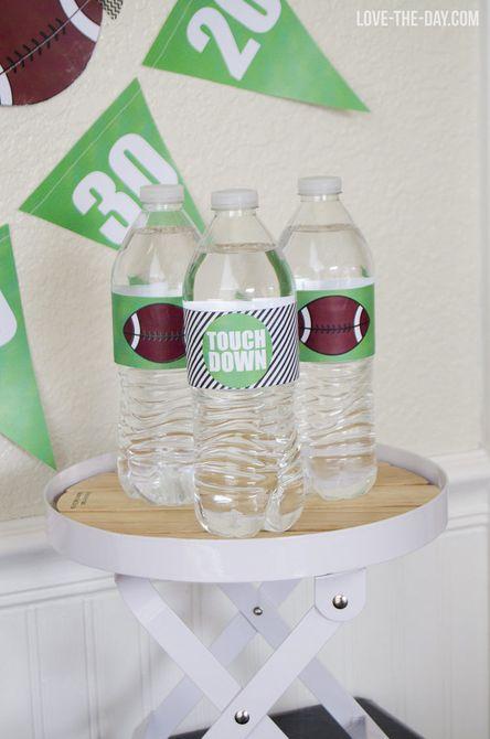 DIY Football Drink Drink Sleeve, DIY Football Mason Jar Cups
