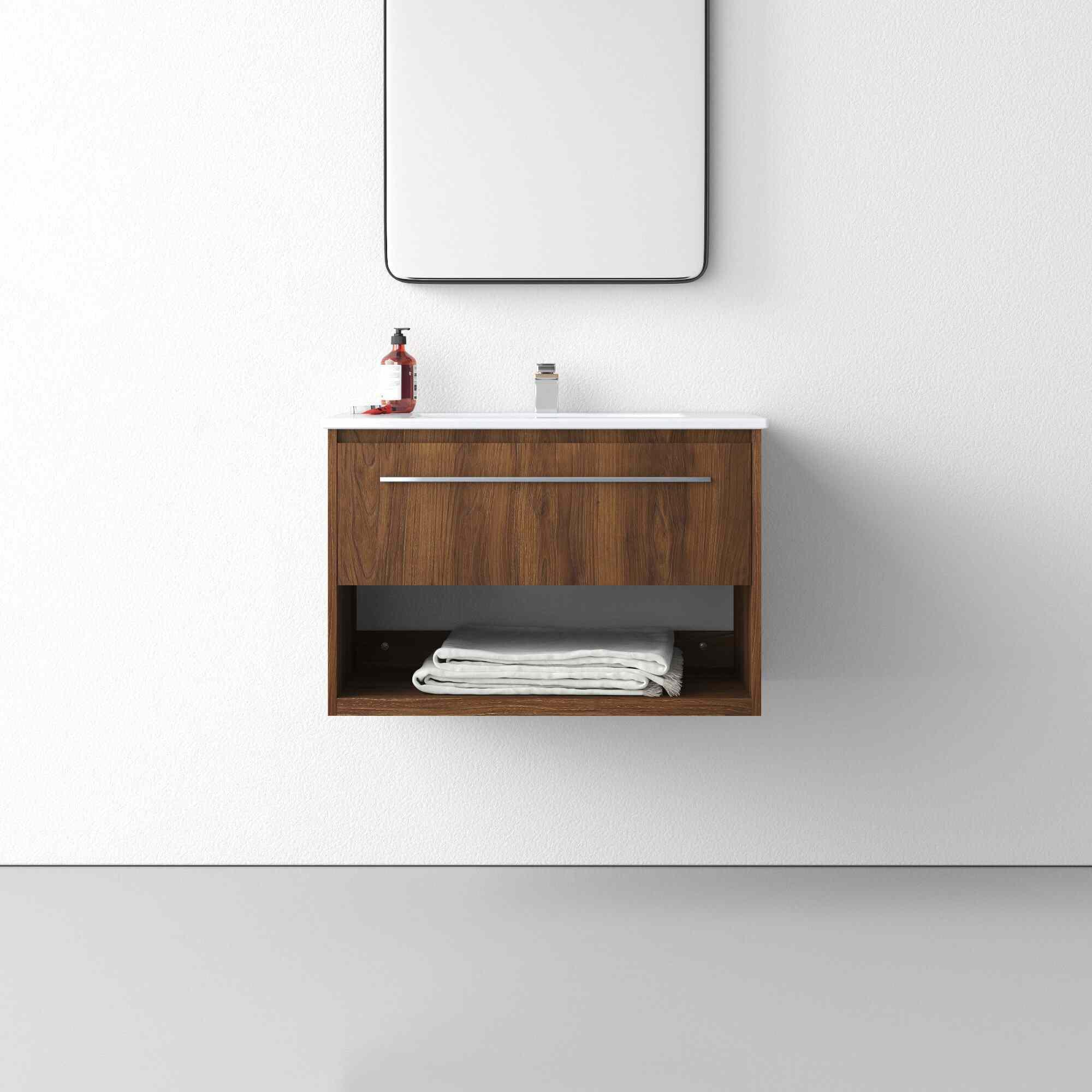 "AllModern Darcie 30"" Wall-Mounted Single Bathroom Vanity"