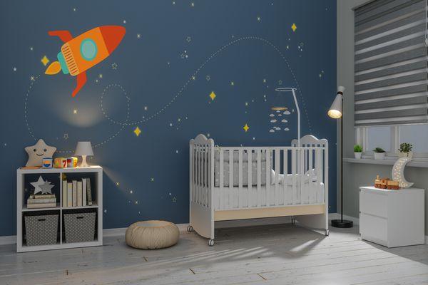 Nursery Room In The Evening