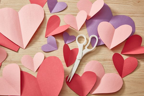 Valentine party heart decorations