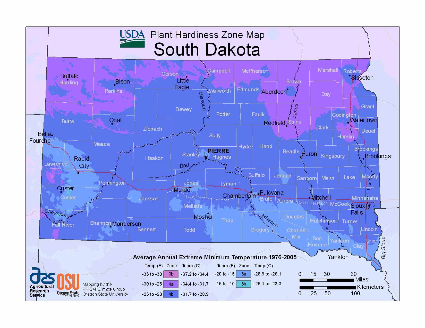 Photo of South Dakota Hardiness Zones