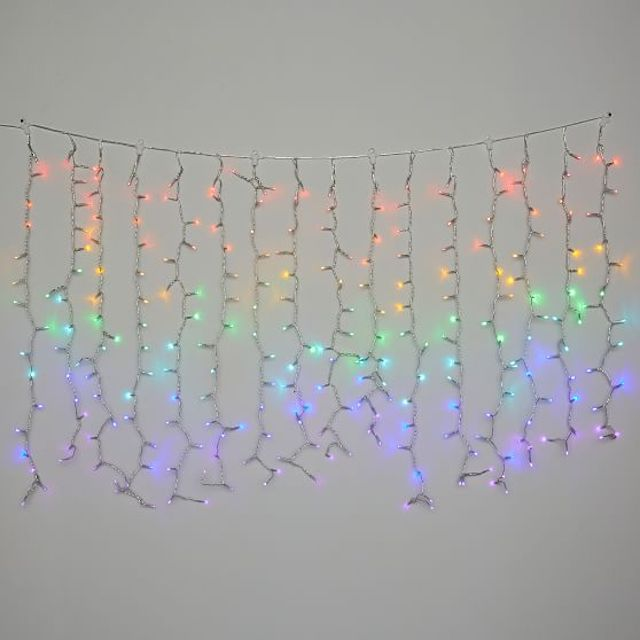 Rainbow Waterfall String Lights