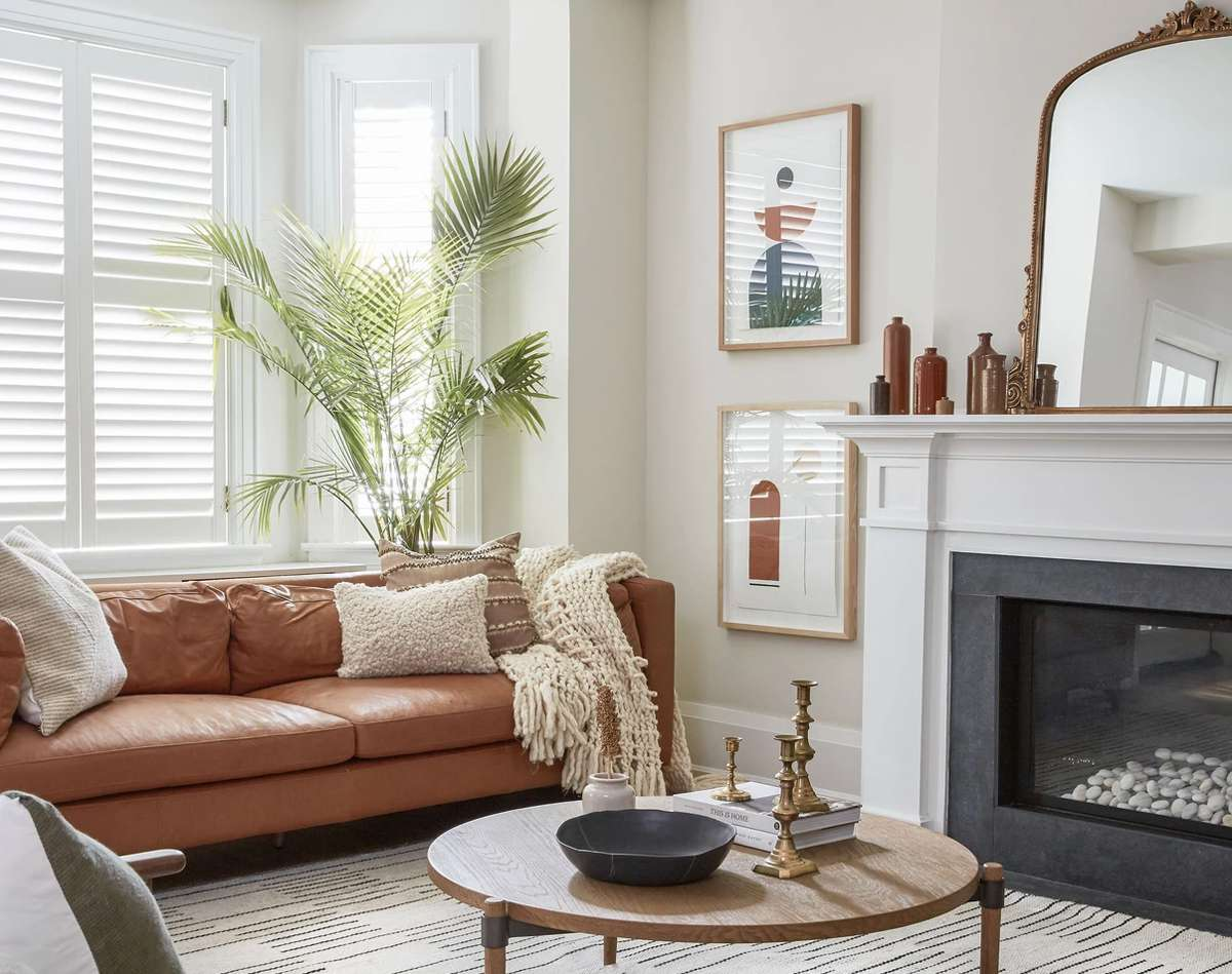 interior with brown accents