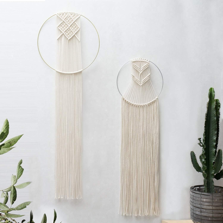 decoración para colgar en la pared de macramé