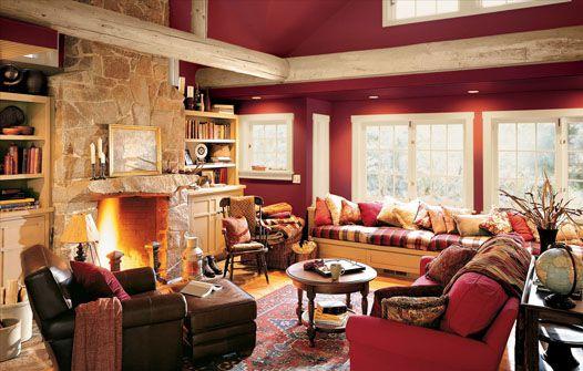 color de sala rojo