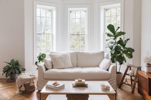 living room with abundant light