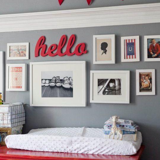 Red and grey boys nursery