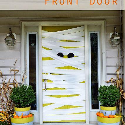 Mummy Halloween door design