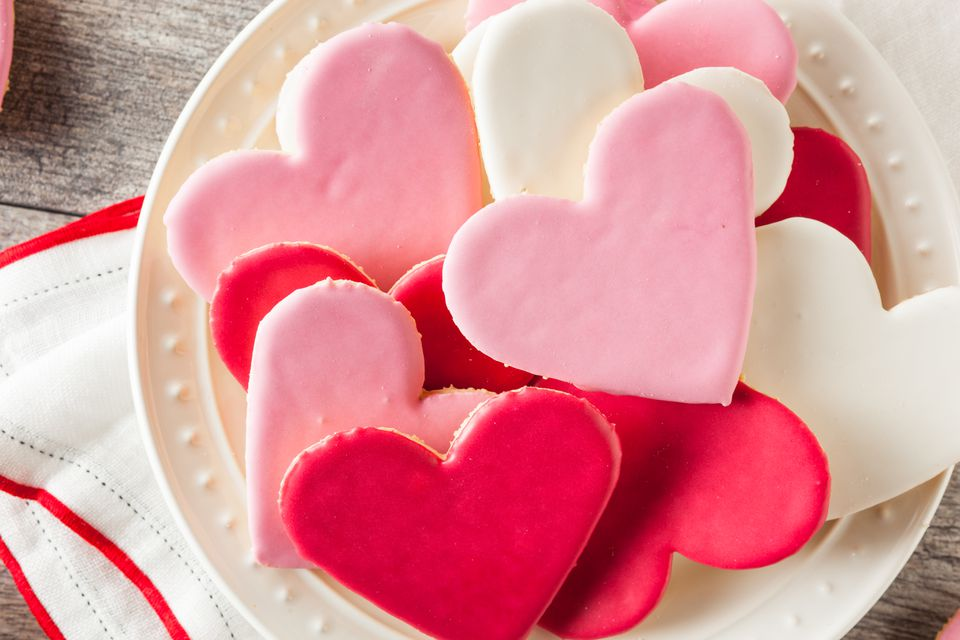 Heart Shaped Valentine's Day Sugar Cookies