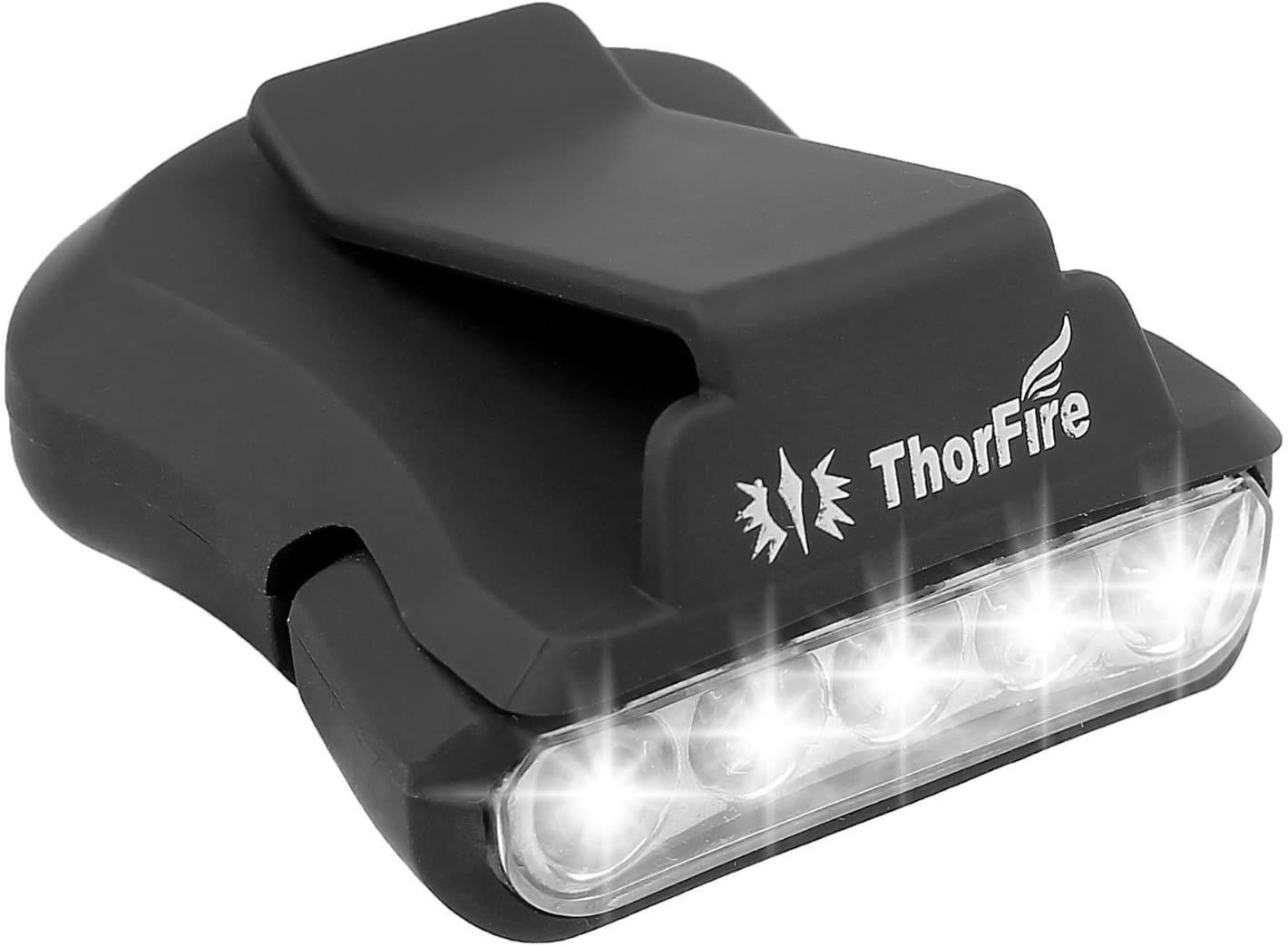 Thorfire Cap Hat Light 5-LED Rotatable Clip-on Hat Light