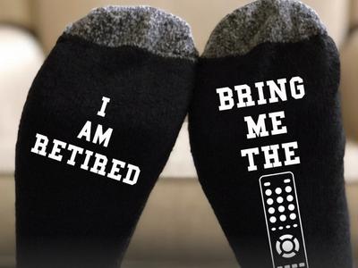 I am retired socks