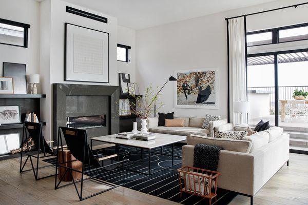 Bobby Berk designed this neutral living room