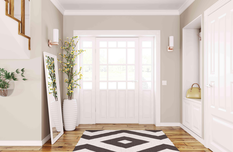 modern minimal clean entry