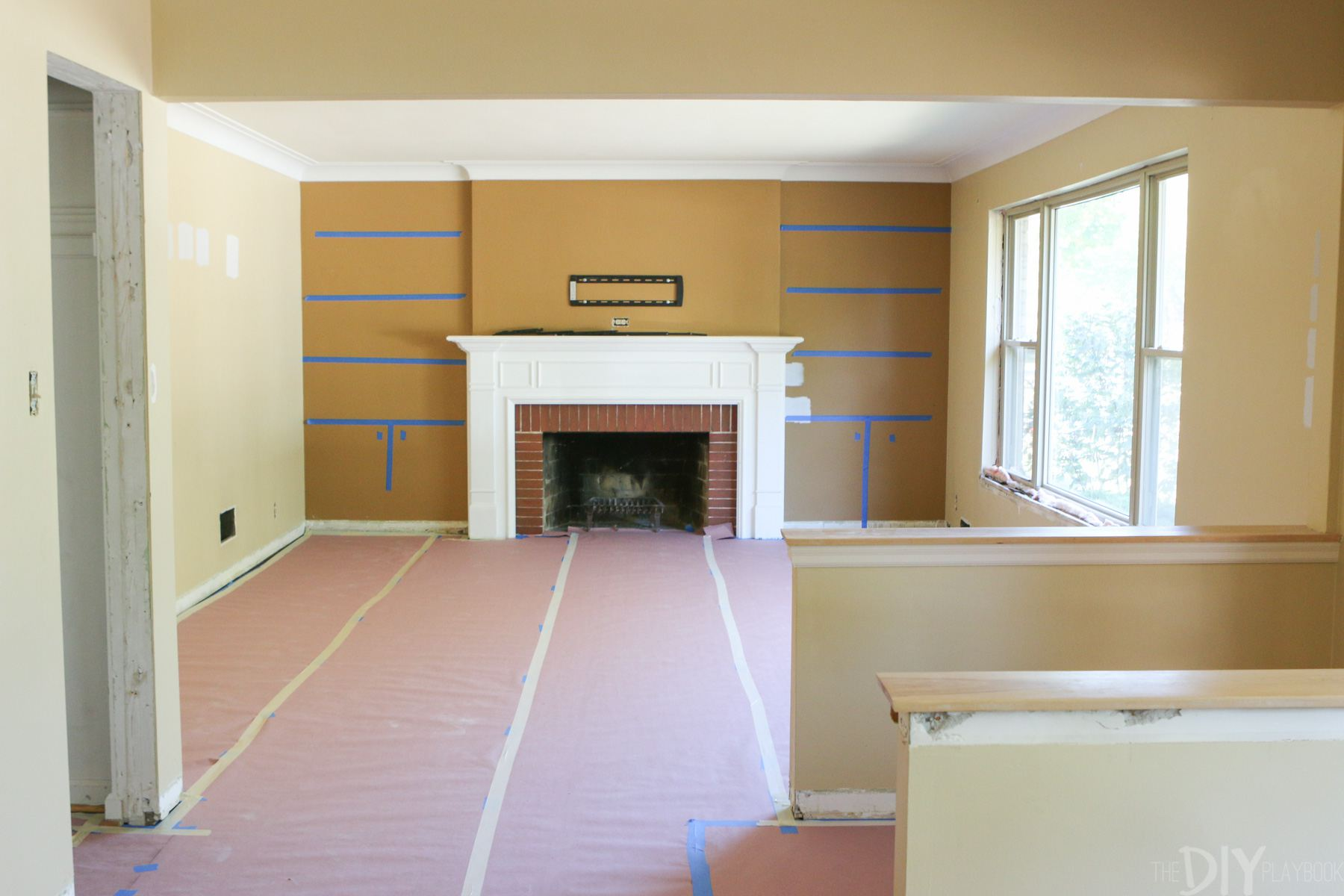 Fireplace Before Adding Built-Ins