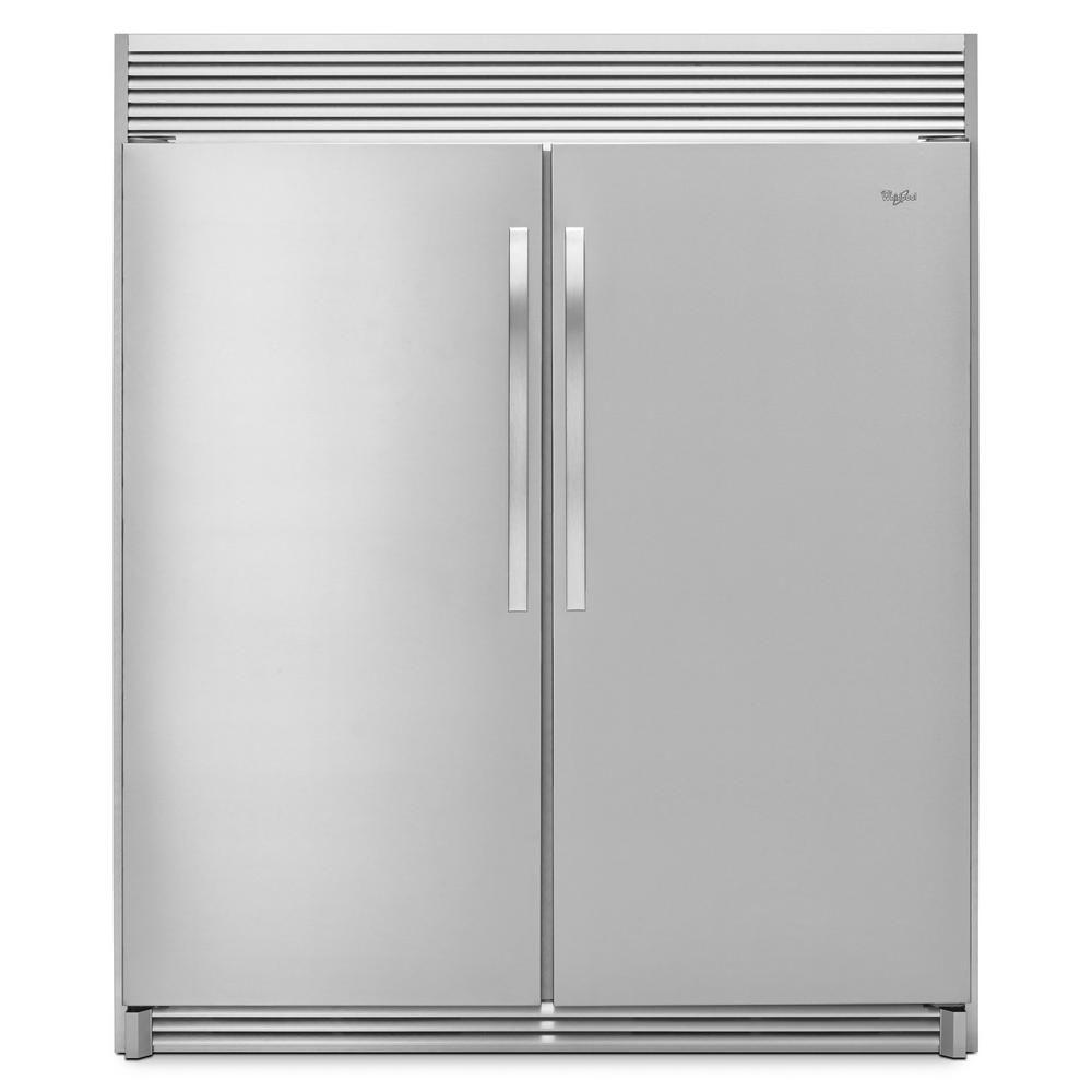 best with double doors: whirlpool 17 7 cu  ft  sidekicks upright freezer