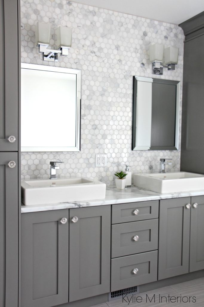 26 Ideas For Beautiful Gray Bathrooms - Grey-bathroom-tile