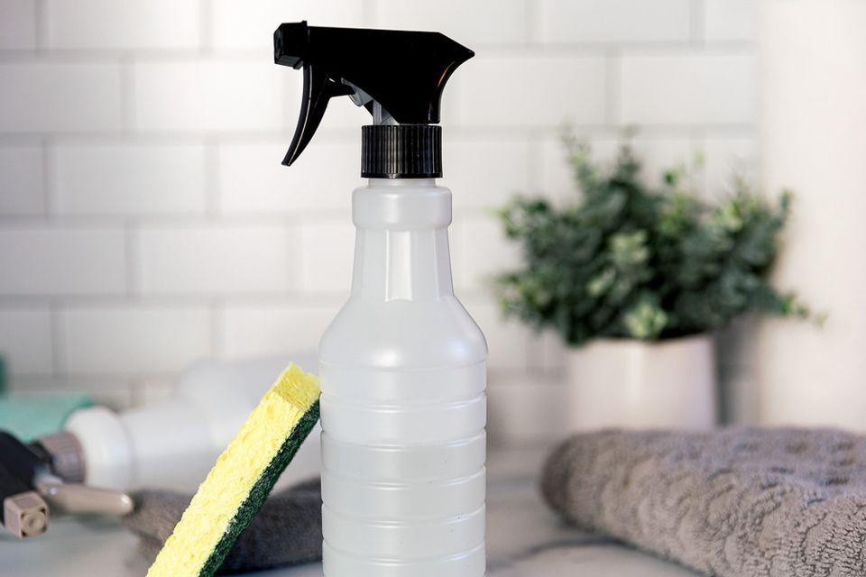 spray bottle and sponge