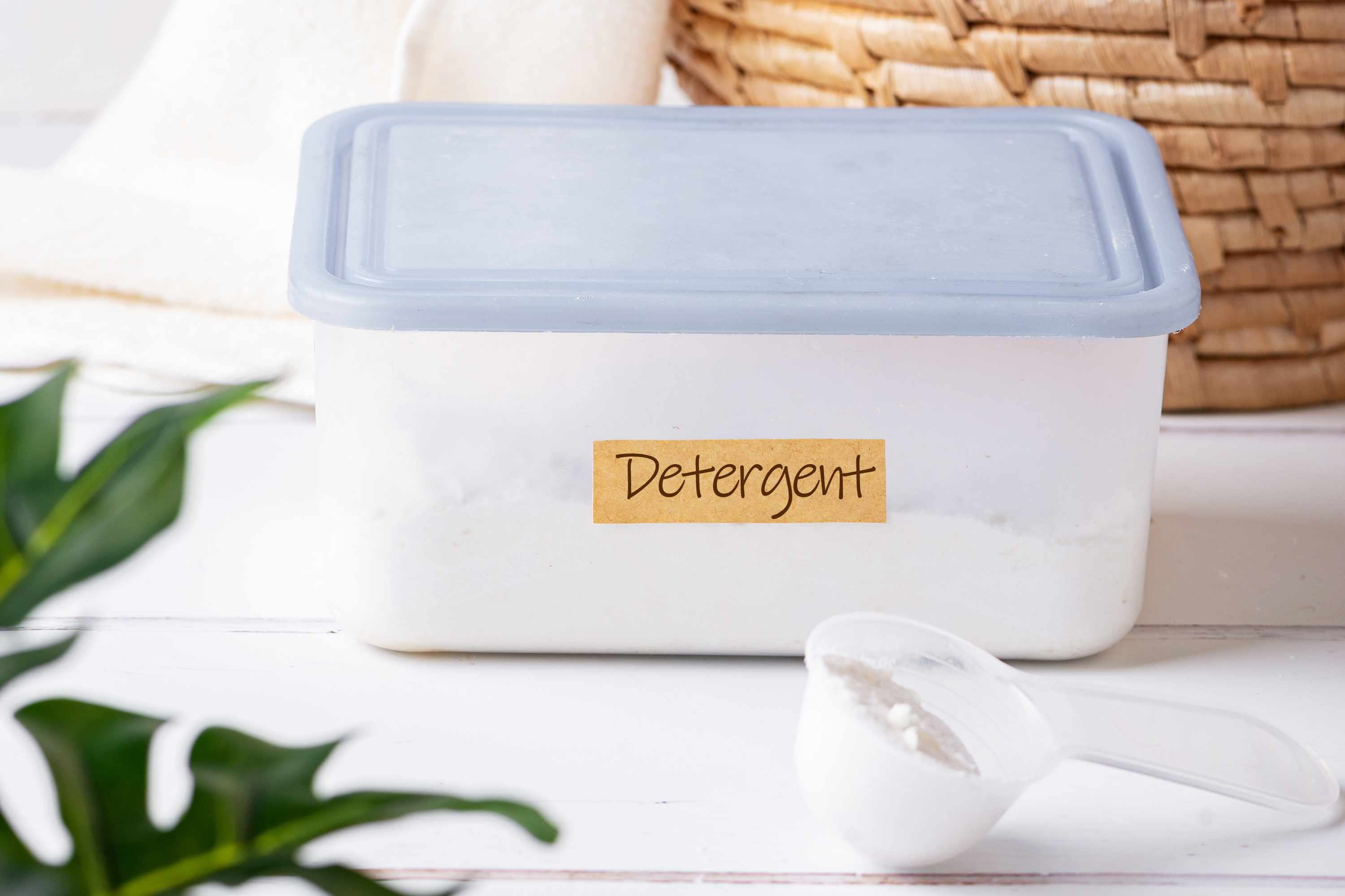 detergent in an airtight container