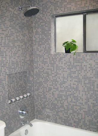 Showers With Iridescent Tiles