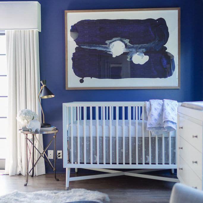 Dark cobalt blue nursery
