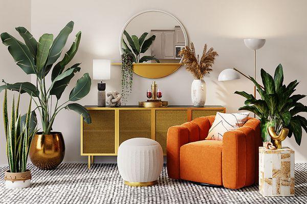 Leo-inspired living room decor