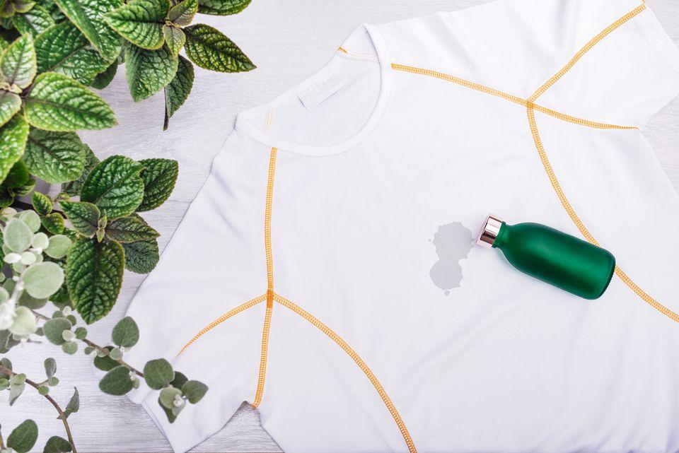 oil stain on nylon activewear