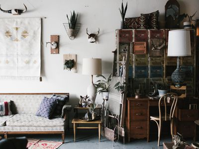 a second-hand furniture store