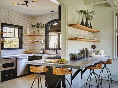 industrial kitchen concrete countertops