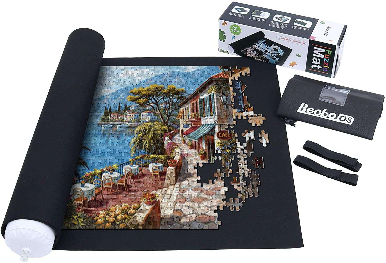 Becko Puzzle Roll Jigsaw Storage Felt Mat