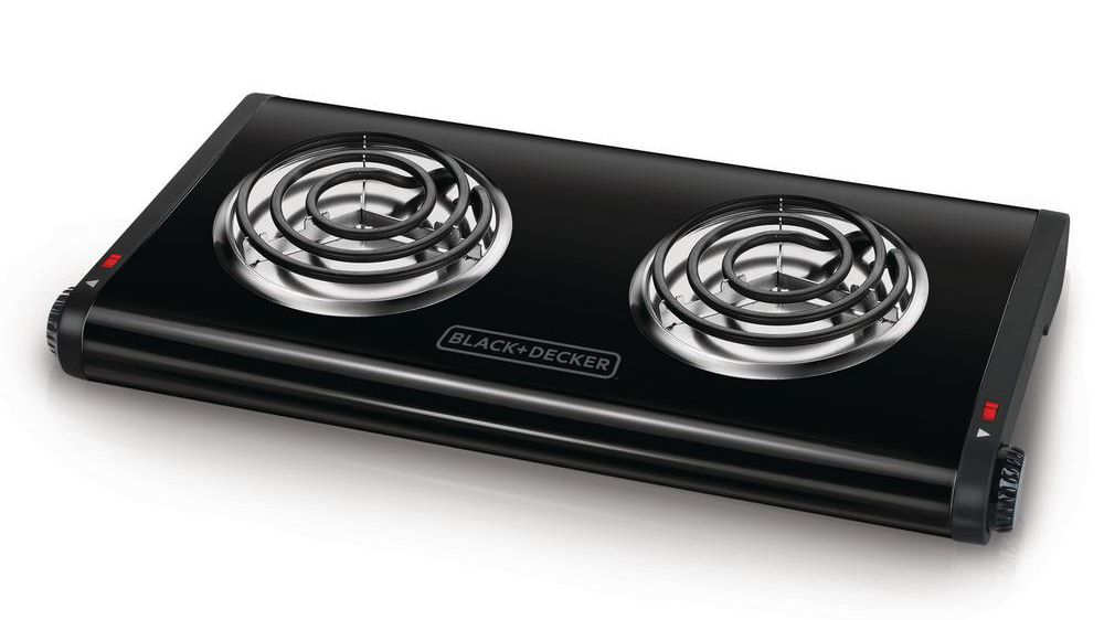 Double Electric Hot Burner Dual Temperature Controls Flat cast iron heating plat