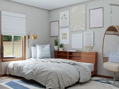 gray bedroom decor