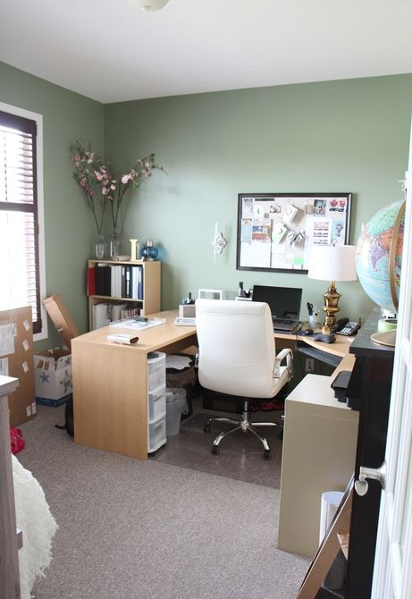 Antes - Oficina verde que necesita un cambio de imagen