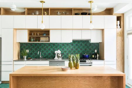 Bold Green Backsplash
