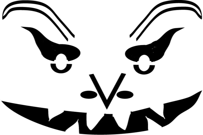 Free Scary Pumpkin Stencils