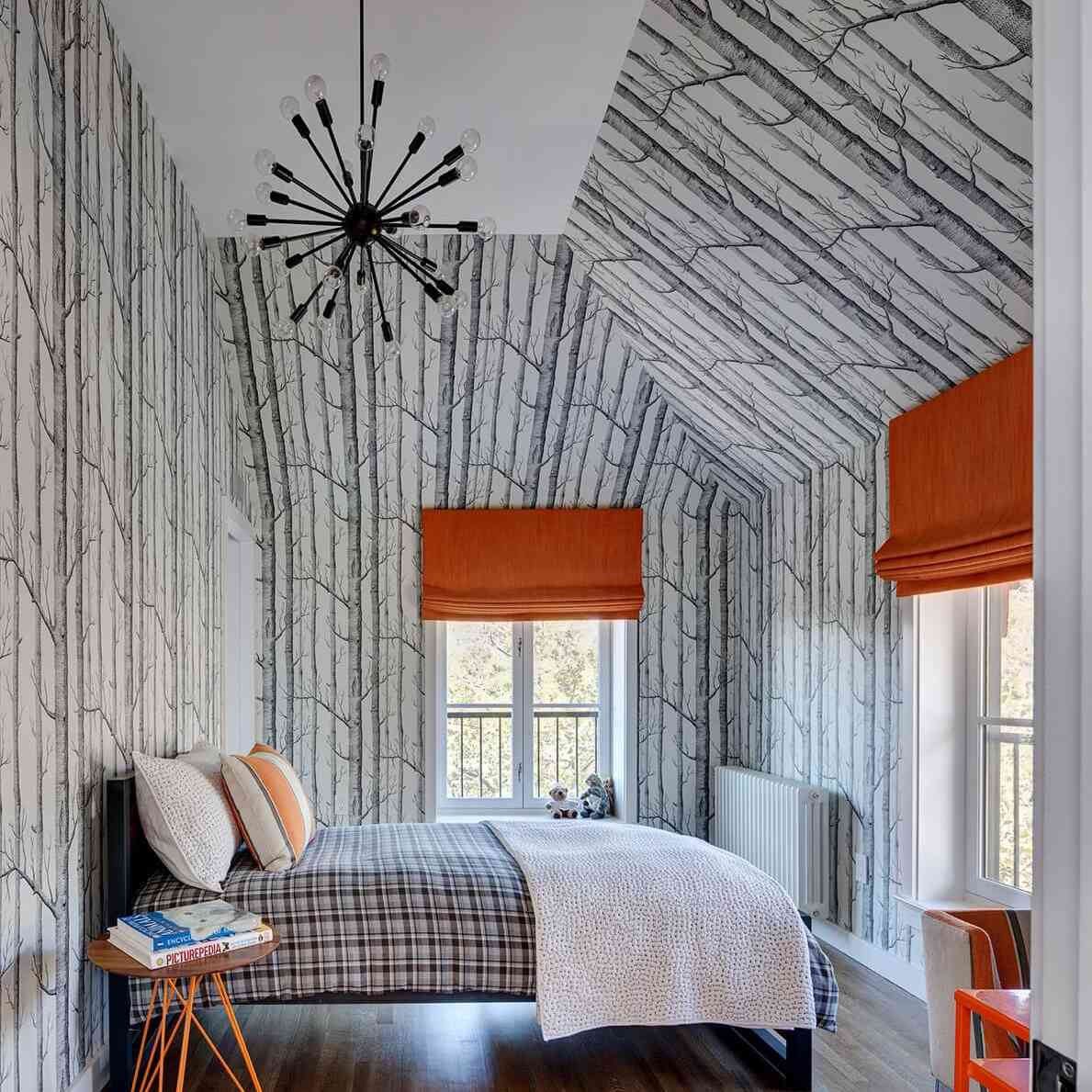 12 Beautiful Wallpapered Bedrooms