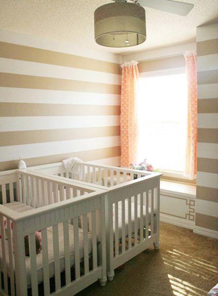 E Saving Twin Nursery Crib Placement