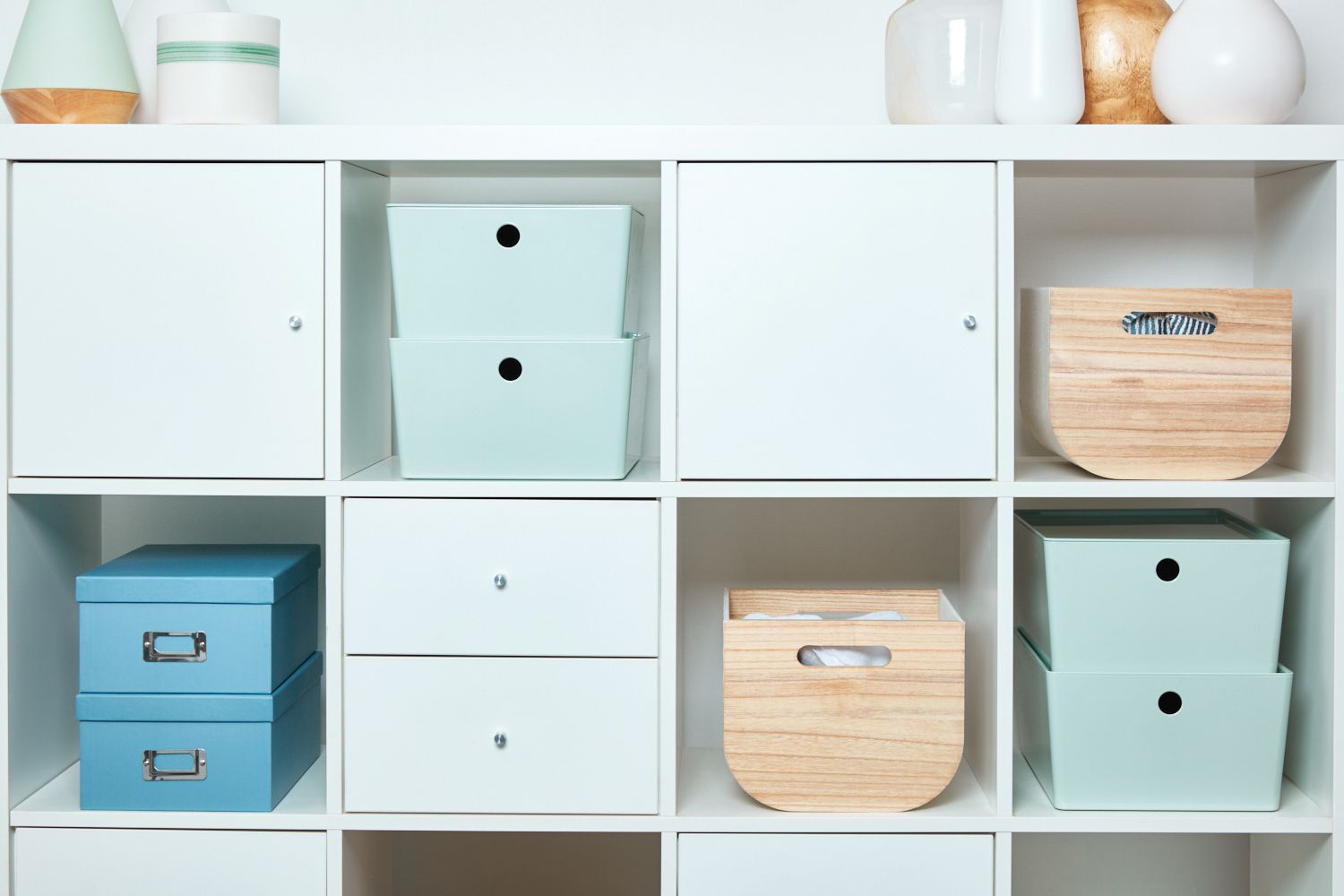 items neatly organized and stored