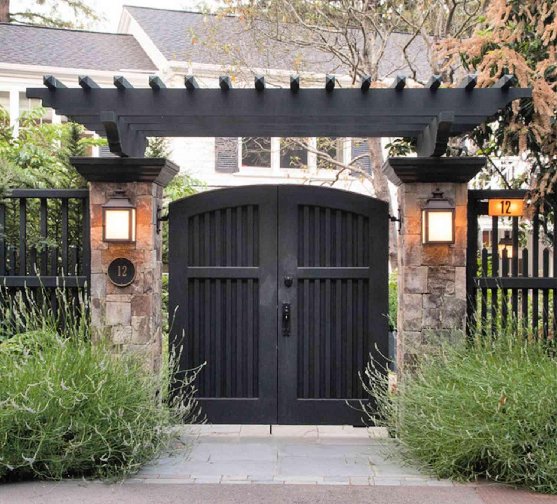 hermoso diseño de puerta de jardín