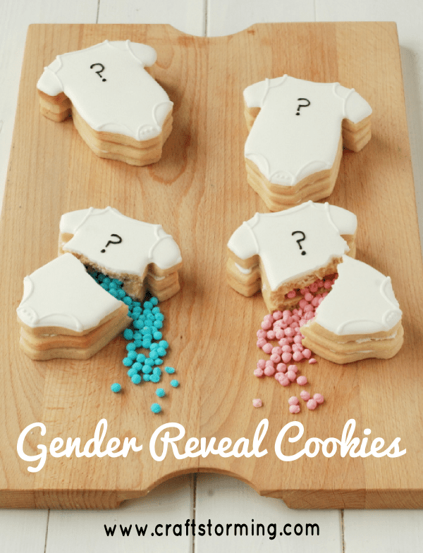 Gender Reveal Cake Candles