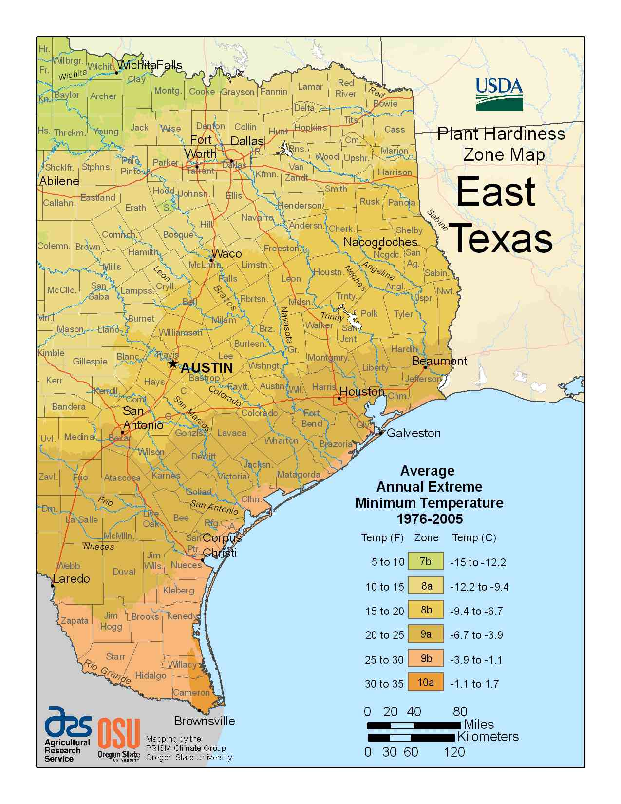 Photo of East Texas Hardiness Zones