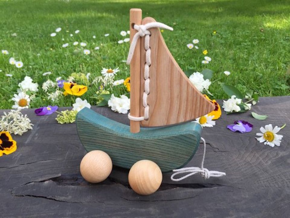 Sailing Boat Wooden Pull Toy