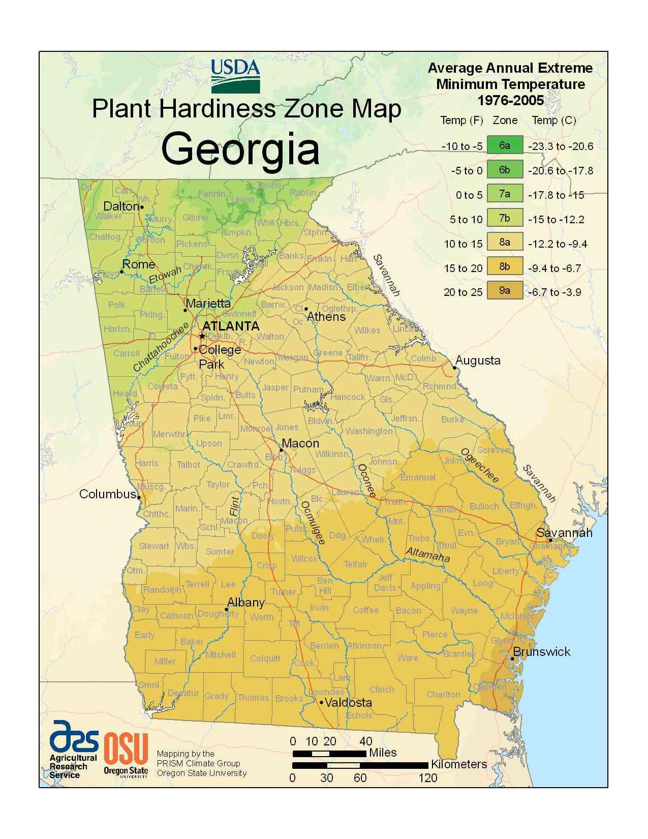 Photo of the Georgia Hardiness Zones