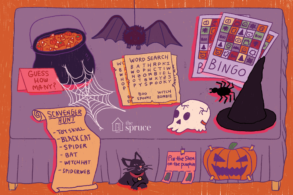 halloween party games illustration
